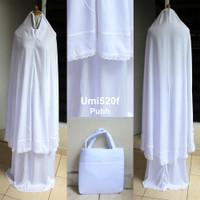 Mukena Dewasa Rayon Renda Semi Jumbo / Umi 520F2 - Putih