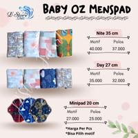 Pembalut Kain Wanita Baby Oz   menstrual pad   menspad   extra insert