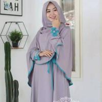 Baju Gamis Wanita Syari Nadhira Hijab Set Dress Exclusive Itycrepe - Silver, XXL
