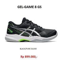 Asics Junior Gel Game 8 GS - Black/Silver ( Sepatu Tenis Anak ) - 33.5 ( 21cm )