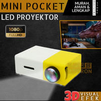 LED Proyektor Mini Portable 1080HD Home Teater LCD Projector