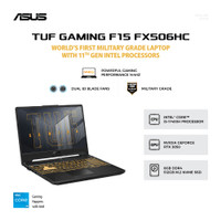 ASUS TUF FX506HC-i535B6G-O i5-11400H 8GB 512GB RTX3050 4GB W10 15.6