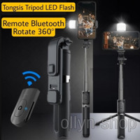 Tongsis Tripod Bluetooth Led Fill Light Flash Phone Holder with Remote