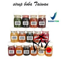 SIRUP BOBA TAIWAN 50ML - SYRUP BABEL BUBBLE TEA CAFE IMPORT TAIWAN