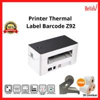 Printer Thermal Bluetooth Barcode-Label cetak Alamat/Resi Garansi 1Thn