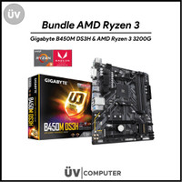 Bundle AMD Ryzen 3 3200G Box w/ Vega 11 Graphic & Gigabyte B450M DS3H