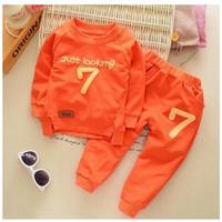 Setelan Pakaian Baju Kaos Dan Celana Musim Dingin Anak Laki impor.