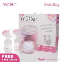 MUTTER Krystal HELLO KITTY Pompa ASI Elektrik Double Breast Pump