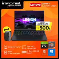 LENOVO LEGION 5 15ACH6 R7 5800H 16GB 512GB RTX 3050Ti 15.6 FHD W10 OHS - PHANTOM BLUE