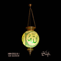 Lampu Gantung Antik Mozaik Turki Isi 3 Lampu Lafadz Allah