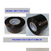 "Wrapping Pipa Polyken 4"" (4 inchi x 100 Feet) Hitam"
