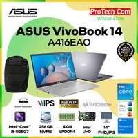ASUS VIVOBOOK 14 A416EA I5-1135G7 4GB 256GB SSD 14 FHD OHS W10 RESMI