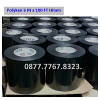 "Polyken Wrapping Tape 6"" (6 inchi x 100 Feet) Hitam"