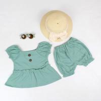 Baju Setelan Anak Bayi Perempuan Cewek Terbaru Kekinian Usia 1-2 Tahun