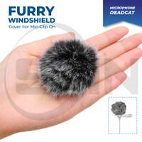 Furry WindShield Deadcat Bulu Cover Clip-on Mic Universal Microphone