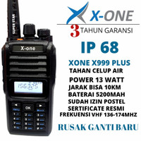 ht xone x999 plus vhf alt icom alinco motorola 13watt anti air ip68