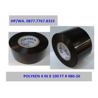 "Polyken Wrapping Tape 4"" (4 inchi x 100 Feet) Hitam"