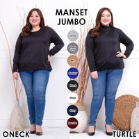 Baju Manset Jumbo Atasan Wanita Big Size Lengan Panjang