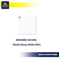 Keramik lantai Accura 50x50 Glossy White KW1
