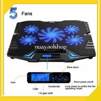 Ice Coller Cooling Pad Laptop 6 Fan Blow/Kipas Angin Pendingin Laptop - Biru Fan 5