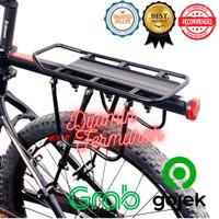 DEEMOUNT Boncengan Belakang Sepeda Luggage Carrier Rear Rack Quick Rel