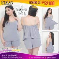 FOLVA baju tidur tanktop hotpants spandex 1576SBD_XL big size jumbo