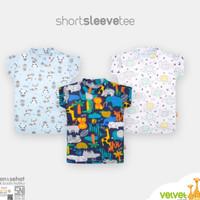 Velvet Junior Kaos Tangan Bloon Unisex 3 Pcs / Kaos Lengan Pendek