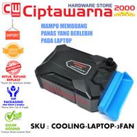 Pendingin Cooling ICE FAN 3 Universal Laptop Vacuum Cooler