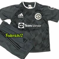Stelan baju bola anak man.united home jersey terbaru