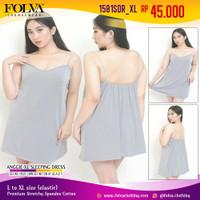 FOLVA baju tidur tanktop dress spandex 1581SDR_XL big size XL jumbo