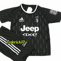 Bisa COD/Stelan baju bola anak-anak Juve/termurah/Jersey terbaru - JUVE HITAM, 4