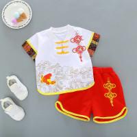 Setelan Baju Anak Pakaian Cowok Cewek Gaya Cina Imlek Chinese Style - Merah, 100