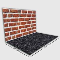 Alas Foto Lipat MDF Hijau 30x45 Background Bata Merah & Black Marmer