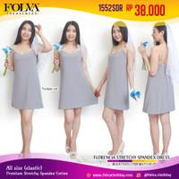 FOLVA baju tidur tanktop dress spandex 1552SDR abu-abu all size