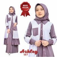 Baju Gamis Anak 8-11 Thn Baju Muslim Anak Perempuan ASHLEY KIDS SET
