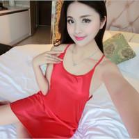 SKA103 Lingerie Merah Dress - Baju Tidur Tipis Transparan Wanita
