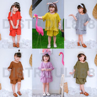 Setelan Anak Perempuan Pakaian Baju Anak Perempuan 1 2 3 4 5 Tahun Set