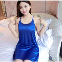SKA143 Lingerie Biru Dress - Baju Tidur Tipis Transparan Wanita