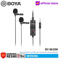 BOYA BY-M1DM Dual Clip On Mic Microphone for DSLR Camera Smartphone