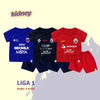Setelan Kaos Bola Bayi & Anak Persija Liga 1 Bahan Katun Premium - Persija, Size 1