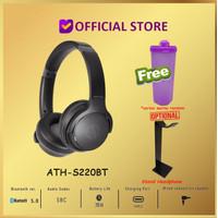 Audio Technica ATH-S220BT Wireless Headphones Headset S220 BT - Hitam, Thumbler Only