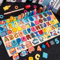 mainan anak papan kayu puzzle montessori