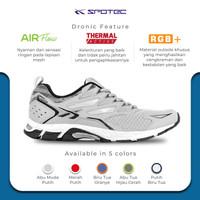 SPOTEC Sepatu Running Dronic Abu Muda - Putih
