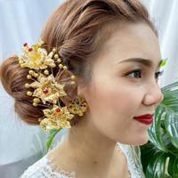 Semanggi Hiasan Aksesoris Sanggul Rambut Adat Bali Tusuk Konde Bunga