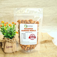 Kacang Almond Utuh Oven / Roasted Whole Almond (250 gram) by Granology