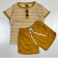 cod stelan anak cowok arcana salur murstat pilih warna baju anak - arcana mustrat, 6-12bulan