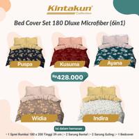 KINTAKUN - bad cover set dluxe flower 180x200 cm