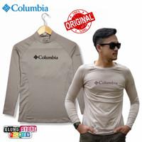 kaos long sleeve pria polos columbia original baju panjang murah navy
