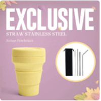 CORE COLLECTION Stojo Collapsible Pocket - 12oz GRATIS STRAW STAINLESS