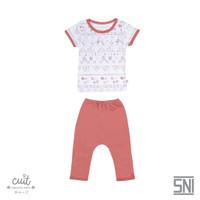 CUIT Setelan Mix Monie Tangan Pendek Celana Panjang Kojo Series